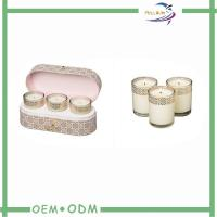 China Elegant Candle Box Packaging Oval Kraft Cardboard Candle Storage Packaging Boxes on sale
