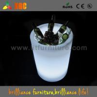 Quality Club / Bars / Party Clear Illuminated Ice Bucket Plastic Infrared Remote Control for sale