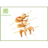 Disposable Bamboo Barbecue Skewers Fruit Cocktail Sticks 300mm X 3.0mm Size