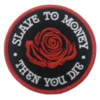 Quality Extremely Durable Custom Embroidered Patch Flower Biker Felt  Laser Cut Border for sale