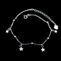 Quality Adjustable Sterling Silver Charm Bracelet , Sterling Silver Star Bracelet for sale