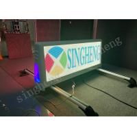 Quality Outdoor P5 Double Side Taxi Top Advertising Car Top Sign Message for sale