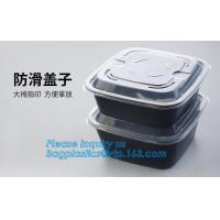 China 3 compartment durable plastic food meal prep bento box,modern style food grade plastic fresh box/bento box/lunch box pac on sale