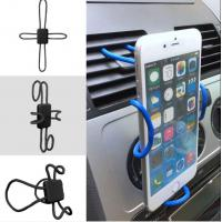 Quality Iphone 8 Flexible Diy Cross Shaped Vehicle Cell Phone Holder With Expandable Stand And Grid for sale