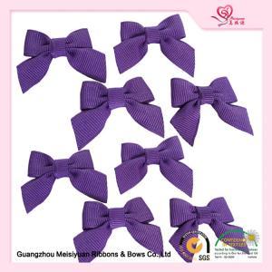 China Decorative Mini Ribbon bows Purple Grosgrain Ribbon For Garment on sale