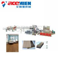 Quality Durable SPC Flooring Machine Click Vinyl Board With Cooling Bracket T Type Mould for sale