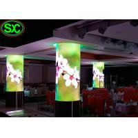 Quality Indoor P4 Fixed Advertising LED Screens Curved LED Display Cylindrical Screens for sale
