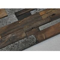 Quality Natural Mosaic Wood Floor Mixed Color , Old Ship Modular Wood Wall Panels for sale