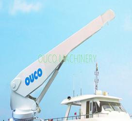 Quality Portable Yacht Crane Telescopic Boom Crane , Hydraulic Deck Crane ISO Passed for sale