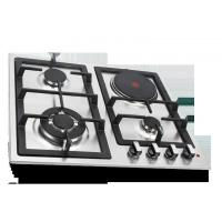 Quality Built In Combined Gas And Electric Hob Stainless Steel Surface Material for sale