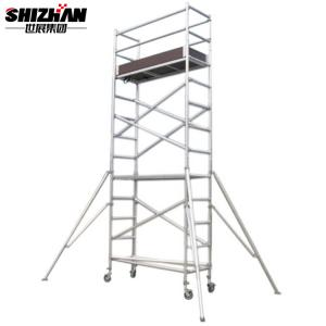 Quality Outdoor Removable Aluminum Telescopic Scaffold Tower 6m Platform for sale