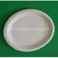 Best Biodegradable Disposable Sugarcane Pulp Paper Plate, Oval Plate wholesale