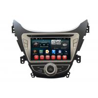Quality Android OS Elantra Hyundai DVD Player Car GPS Navigation Steering Wheel Control TV for sale