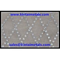 Hot dipped galvanized welded razor mesh BTO-22 for fencing