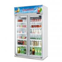 Quality Upright Slide Glass Door Freezer Showcase For Commercial Automatic Defrost Type for sale