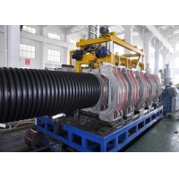 China Helical Gear 600kg/H 800mm HDPE DWC Pipe Machine for sale
