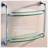 Best Double Layer Bathroom Shelf with Clear Tempered/Toughened Glass From China wholesale