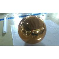Quality Inflatable Gold Mirror Ball Ornaments / Inflatable Glitter Ball for sale