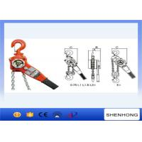 Quality 6 Ton Manual Lifting Equipment Chain Lever Block With 1.5M  Standard Chain for sale