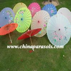 Chinese parasols Imitation pongee umbrellas