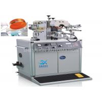 Buy Irregular Caps Semi - Automatic Hot Foil Plastic Stamping Machine 0.6MPa Compressed Air at wholesale prices