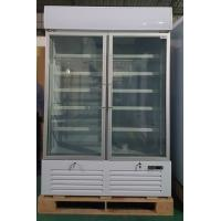 China Double Glass Door Commercial Refrigerator , Drink Display Cooler With LED Light Box on sale
