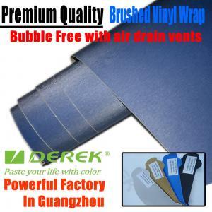 Quality Brushed Aluminum Vinyl Flex Car Wrapping Film -- Brushed Vinyl Dark Blue for sale