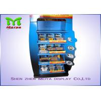 Quality Innovative Design OEM Customized 5-tiers Shelves Cardboard Display Stands for  Battery / Charger for sale