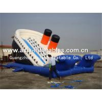 China Backyard Use Inflatable Dry Slide In Titanic Ship Design For Kids on sale