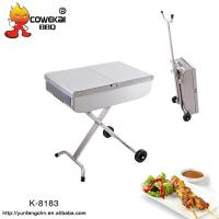 Quality Portable trolley charcoal bbq grill for sale