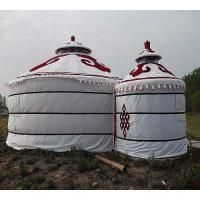 Quality Wind Resistant Mongolian Yurt Tent With Circular Galvanized Steel Pipe Bracket for sale