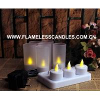 Buy cheap Rechargeable Tealight / Votive, Rechargeable LED tealights, Set Of 6 from wholesalers