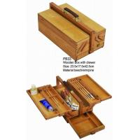 Quality Commecial Artist Storage Box With Drawer , Wooden Craft Storage Box For Paintings for sale