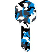 Quality Camouflage Designs Custom House Key Blanks , Fashion Colored Key Blanks for sale