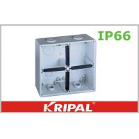 Quality Grey Small IP66 Outdoor Junction Box / Plastic Electrical Junction Box for sale