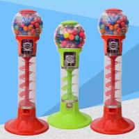Quality PC / ABS Metal Material 1 Player Spiral Gumball Machine For Shopping Mall for sale