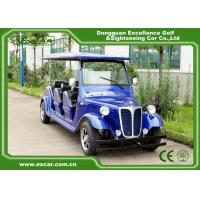 Quality Energy Saving Classic Golf Carts With 3 Row Blue Color Vintage Type for sale