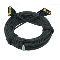 Quality 100 meter DVI hybrid AOC cable over fiber optic  without power supply for sale