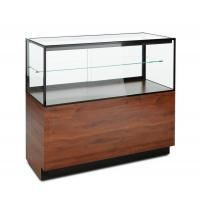 China Mahogany Laminate Lucite Locking Jewelry Display Case With Storage Cabinet on sale