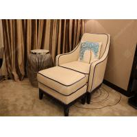 Quality Luxury Customized Hotel Lounge Chairs High Back Wooden Frame Grey High Density Foam for sale