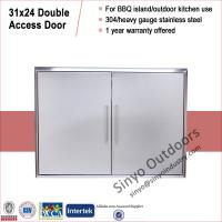 Quality Stainless built in barbeque island 31 inch double access door for sale