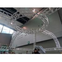 Quality Aluminum Screw Circular Lighting Truss For Exhibition On Truss Top for sale