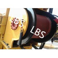 Quality Single Drum Marine Anchor Winch Left And Right Rotation Direction Lebus / Helical Grooving for sale