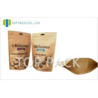 Best Moisture Proof zipper stand up food pouch , Nuts kraft paper packaging wholesale