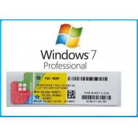 Quality Full Version Microsoft Windows 7 Key Sticker Easy Using Activation Online for sale