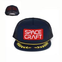 Quality Embroidered Logo Fashion Trucker Mesh Cap For Men / Guys 5 Panel for sale