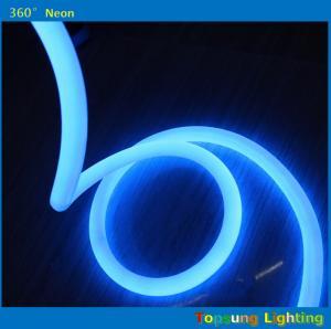 Best blue 360 round neon flex light 24v 100leds/m for outdoor round diameter 25mm wholesale