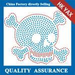 Quality D0929  korea quality rhinestone motif skull design transfers for garment for sale