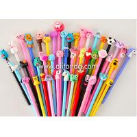 Quality Promotional plastic ballpoint pvc decoration pen for company advertising school bank office gifts for sale