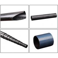 Buy Light Weight Custom Carbon Fiber Parts Tube 3K With Twill Plain Woven Fabric at wholesale prices